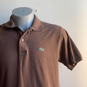 Chocolate Brown Lacoste Polo Size Medium